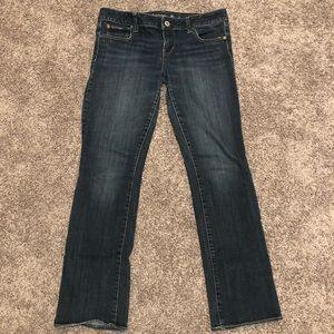 American Eagle Indigo-Wash Straight Jeans